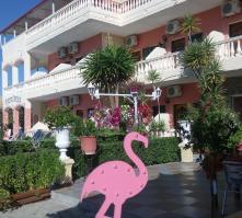 Flamingo Apartments in Moraitika, Corfu, Greek Islands