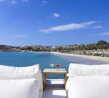 Aphrodite Beach in Kalafatis, Mykonos, Greek Islands