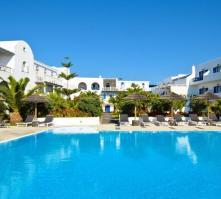 Mediterranean White Hotel in Kamari, Santorini, Greek Islands