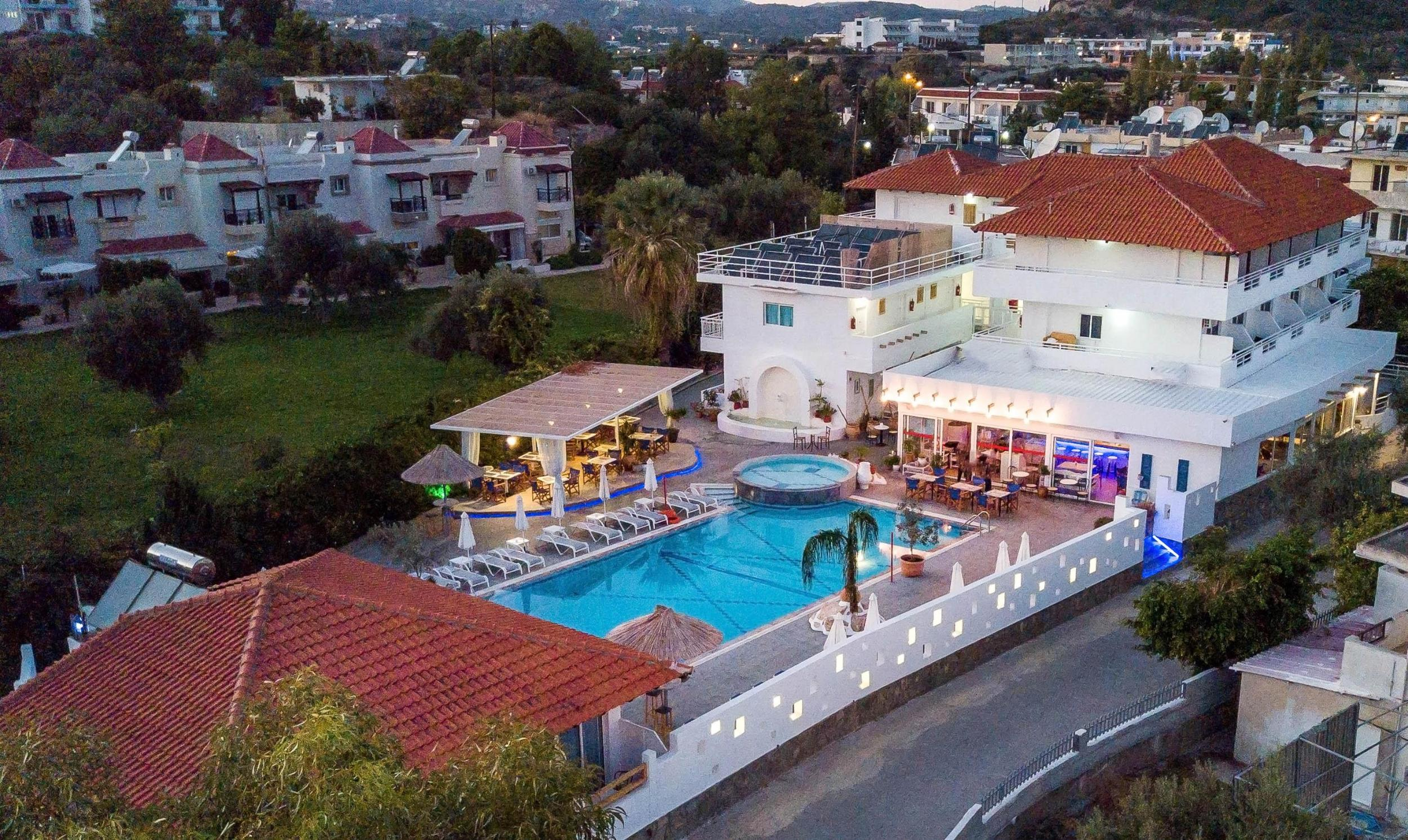 Tinas Plus Hotel in Faliraki, Rhodes, Greek Islands