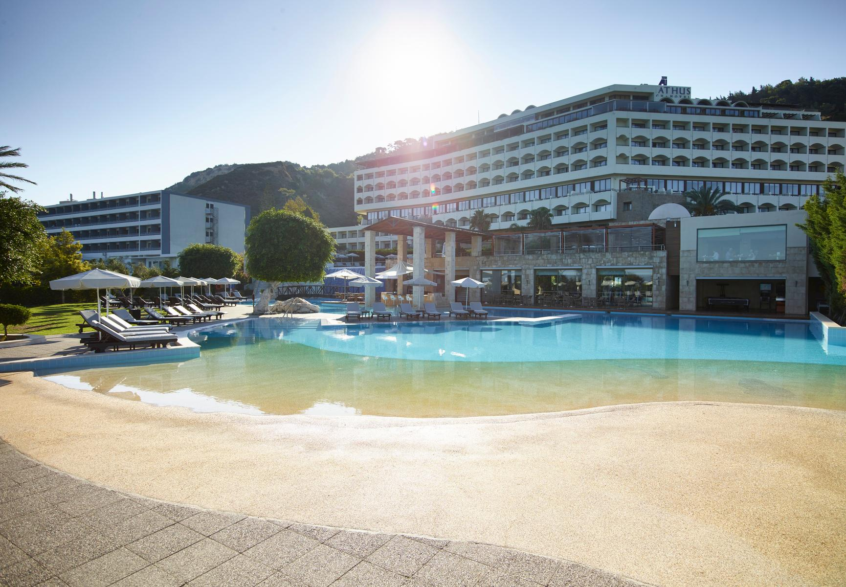 Amathus Beach Hotel in Ixia, Rhodes, Greek Islands